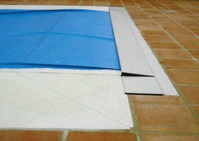 Cubierta para pisicina automática Capcovers Recessed Toptrack