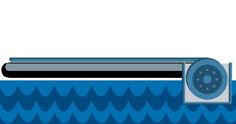 Cubiertas de piscina automática Recessed Toptrack