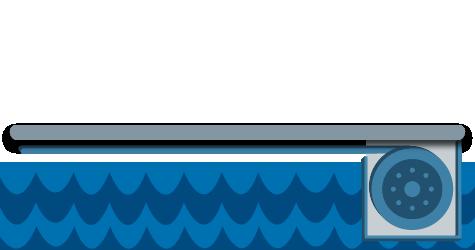 Cubiertas de piscina automática Recessed Undertrack